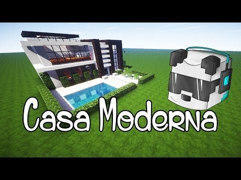 Como hacer una linda casa moderna en minecraft youtube for Casa moderna minecraft mirote y blancana