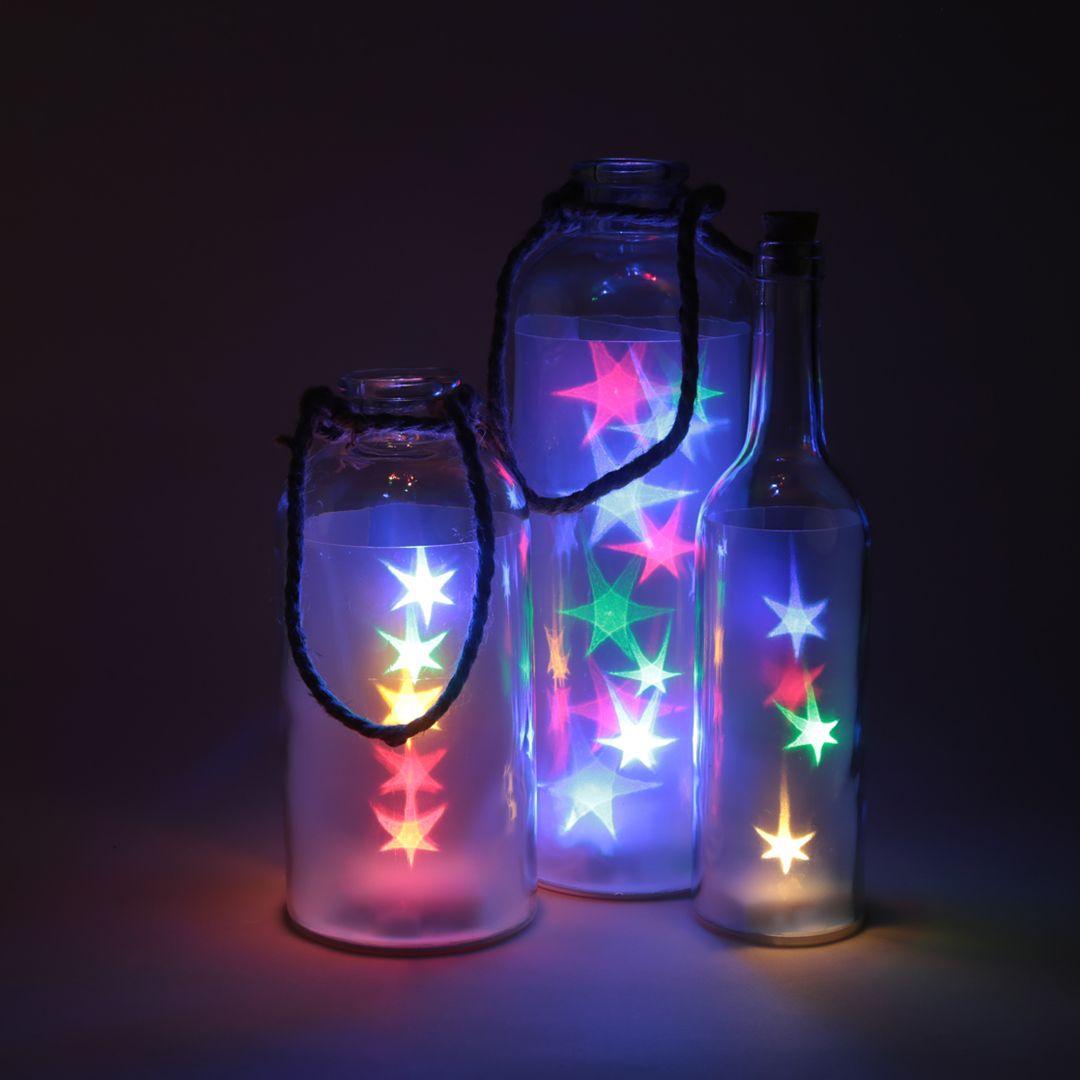 Tarros con luces de colores para iluminar ambientes - Iluminar con led ...
