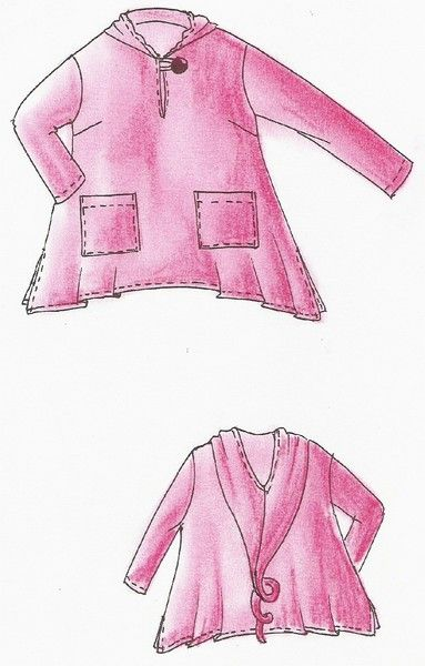 XL 52//54 Schnittmuster Lagenlook Shirt-Jacke Malibu Gr