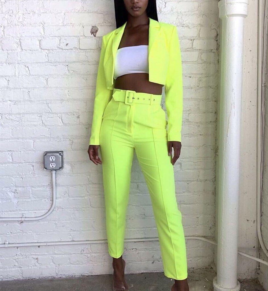 Neon Pants Suit