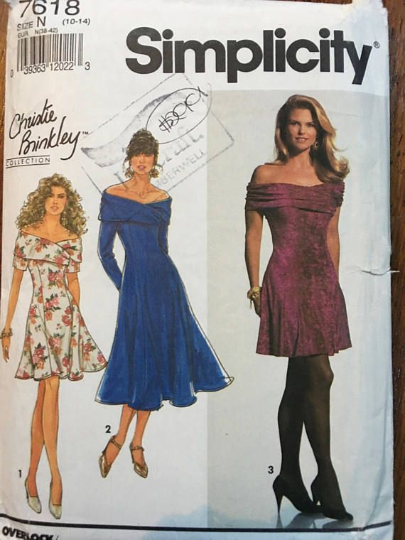 Simplicity 7618 Christie Brinkley Collection Dress Pattern for ...