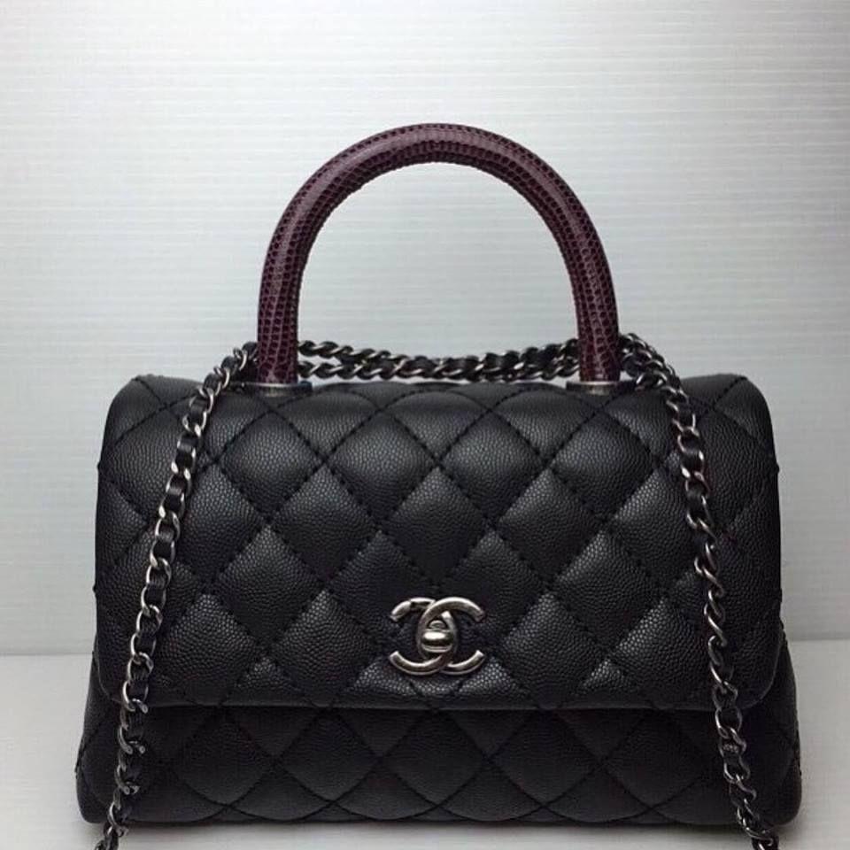 CHANEL Coco Handle Bag   Handbags, Backpacks, Clutches ...