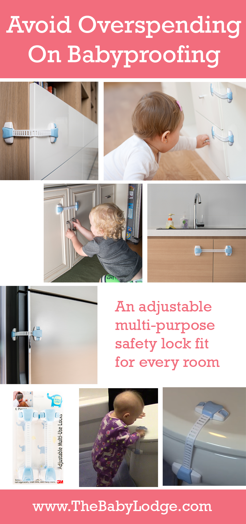 Don T Overspend On Babyproofing Your Home These Baby Proofing Locks Are Versatile And Can Be Installed O Baby Proof Drawers Baby Proofing Baby Proof Cabinets