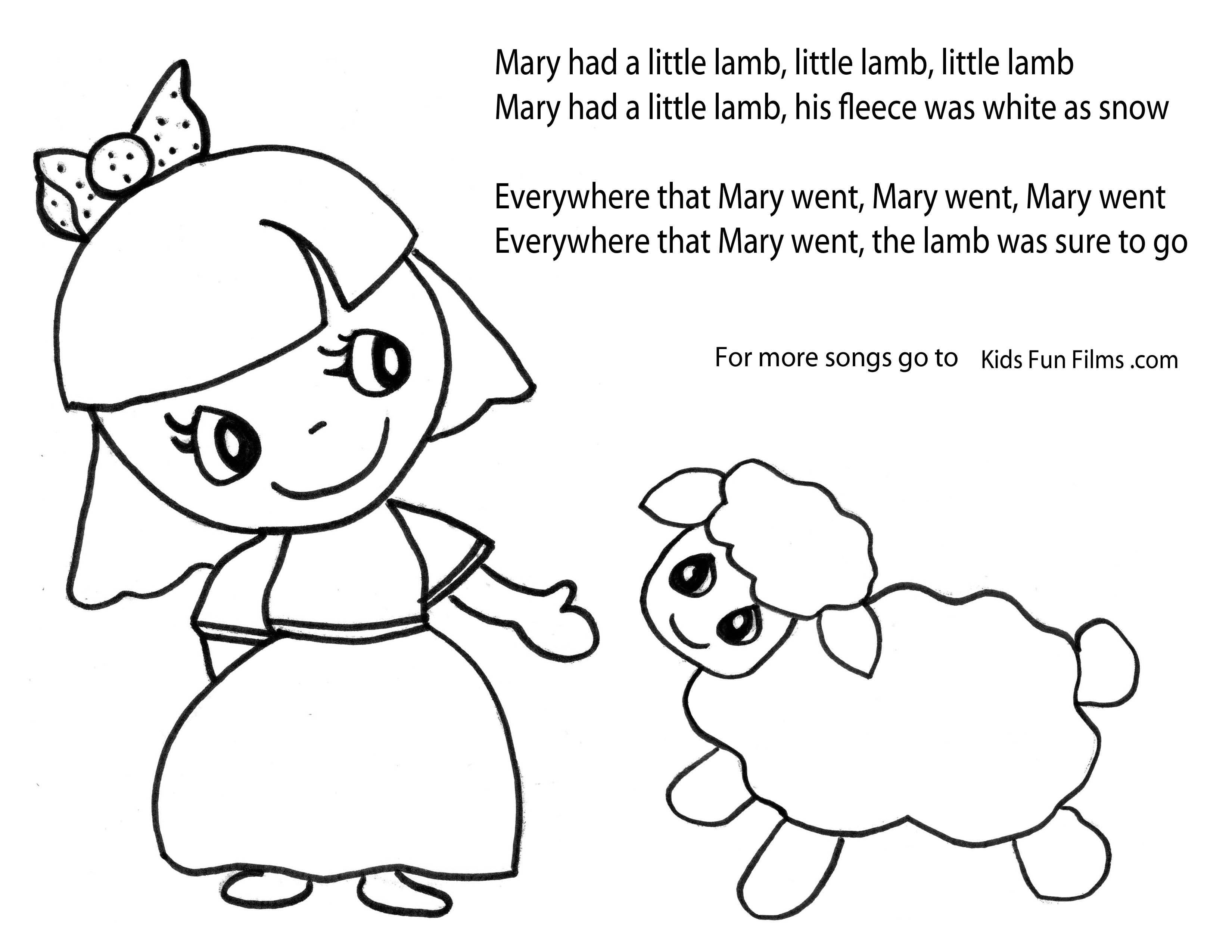 Mary Had A Little Lamb Mary Had A Little Lamb And She Running