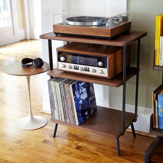 Meuble Platine Vinyles Vinyl Record Storage Ideas Retro
