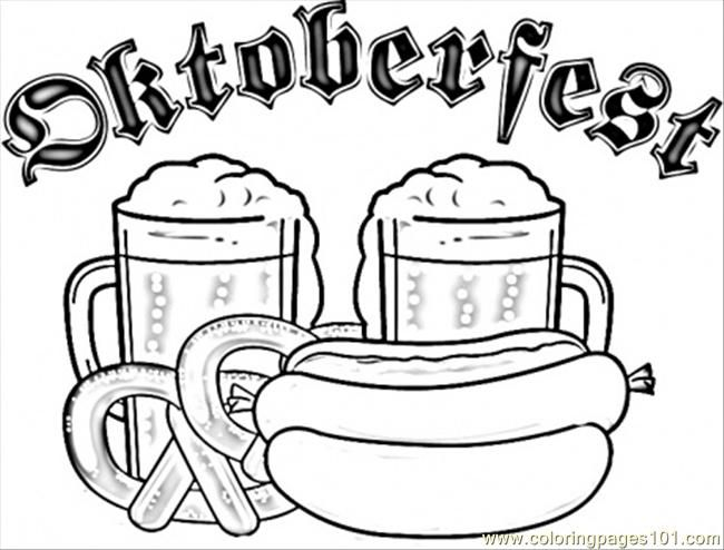 Coloring Pages Germany Printable Coloring Page Beer Festival
