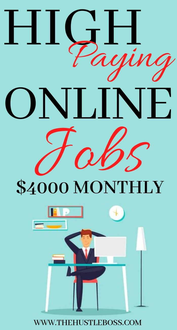 High paying online jobs to make money fast working