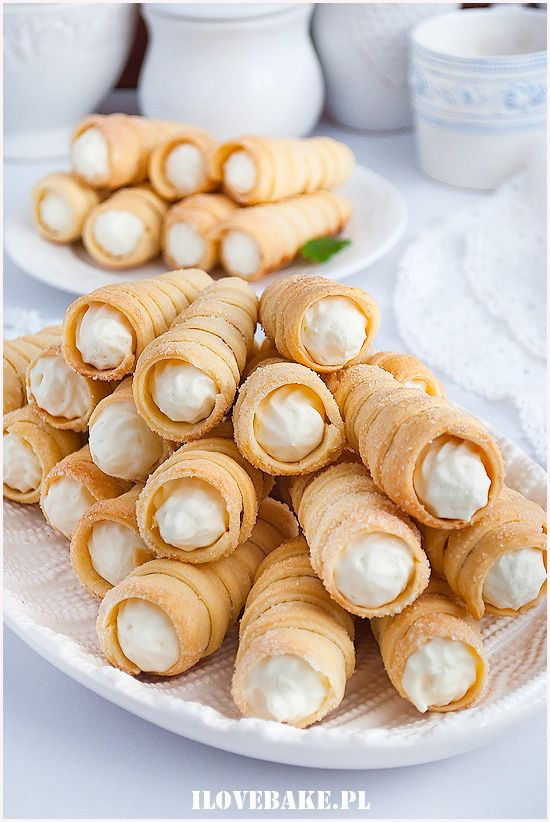 Rurki Z Kremem Mascarpone I Love Bake Dessert Appetizers Food Dessert Recipes