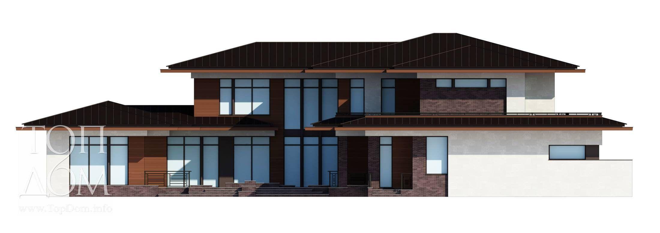 Архитектурный проект разноуровневого дома с видео и фото ...