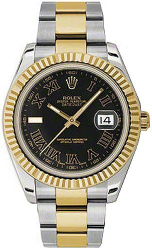 rolex oyster perpetual datejust ii mens watch 116333 rolex oyster perpetual datejust ii mens watch 116333 manufacturer serial numbers black