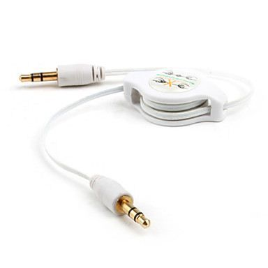 3 5mm Retractable Aux Cable White 78cm Length Accessories For The New Ipad Apple Accessories Electronic Products Accessories