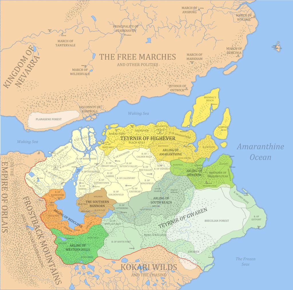 Ferelden | Fantasy world map, Dragon age, Imaginary maps