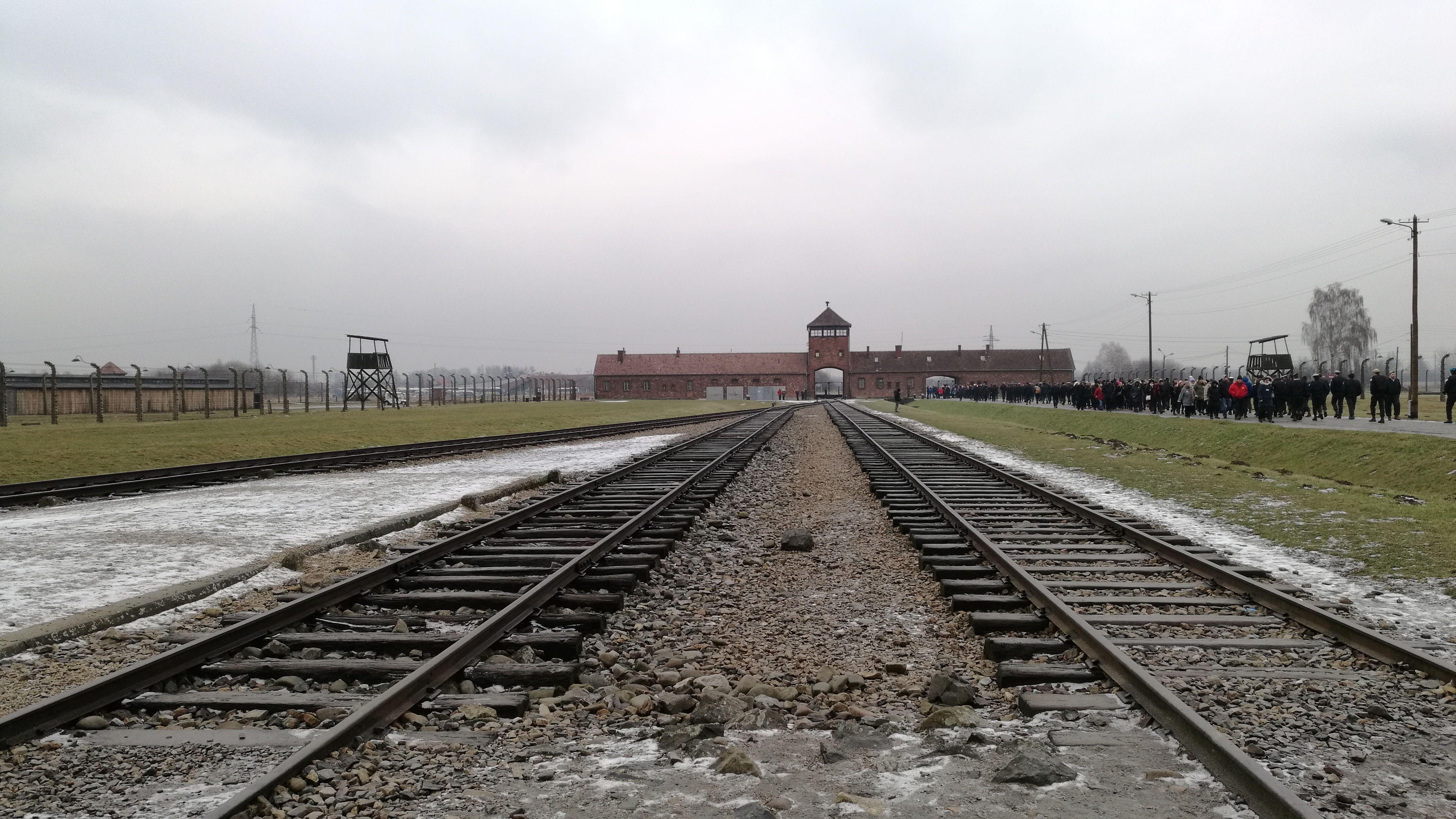 Las vias entrando a Auswitch-Birkenau