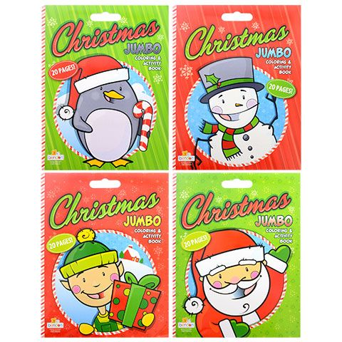 Bulk Super Jumbo Christmas Coloring And Activity Books 20 Pages At Dollartree Com Christmas Colors Book Activities Coloring Books