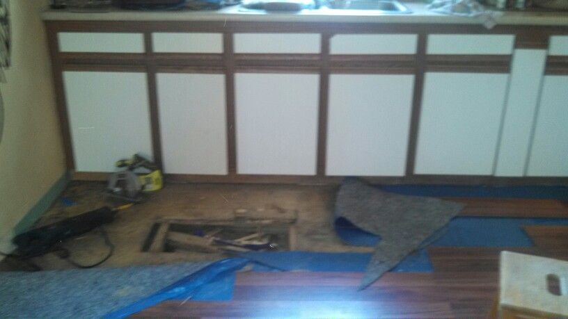 Had to replace some subfloor bc of previous water damage. Prolonged ...
