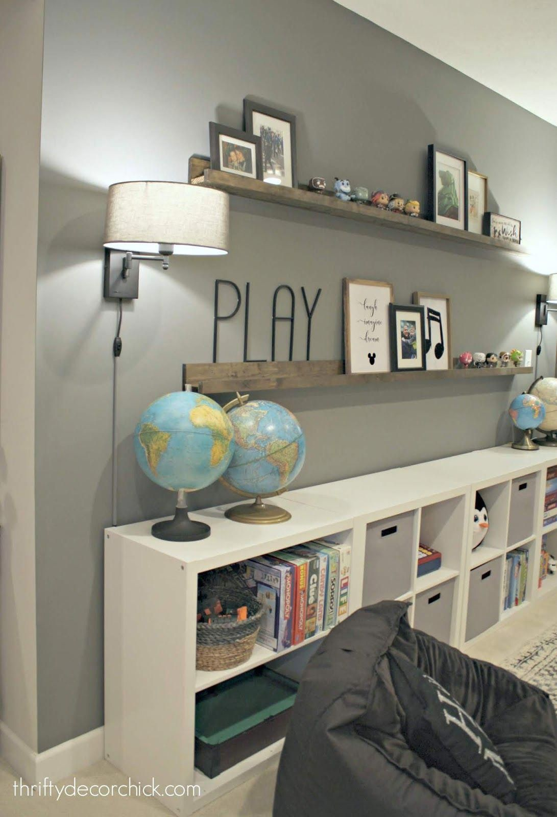 huge empty wall transformed into pretty game and toy