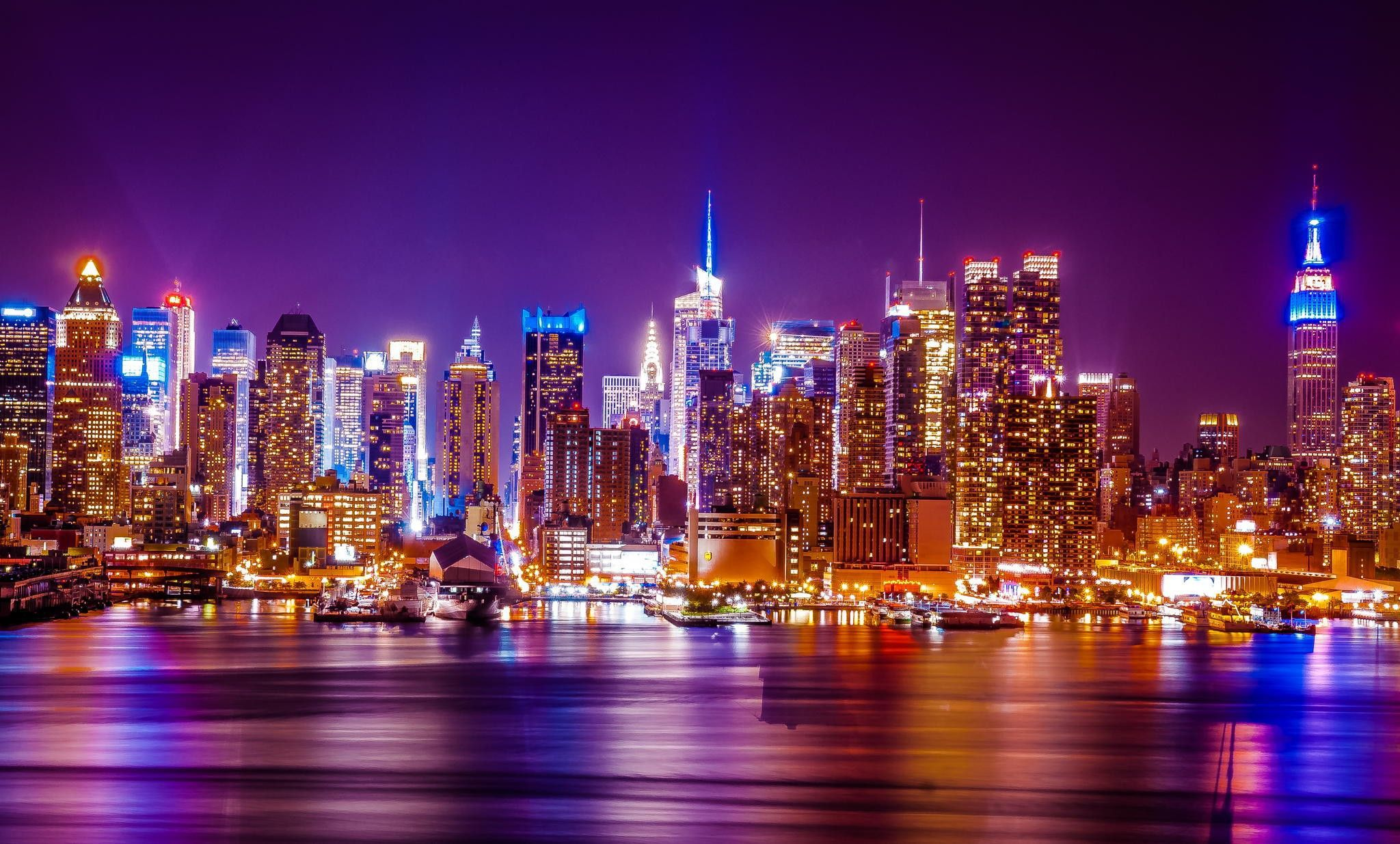 New York City Wallpapers HD Pictures Wallpaper New York - City lights wallpaper for bedroom