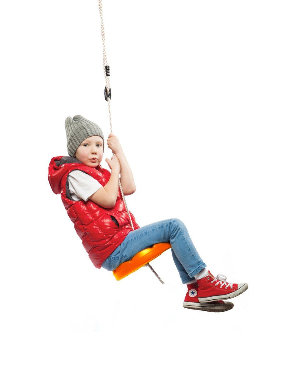 Orange Disk Seat Swing Monkey Rope Tree Swing By Summersdream