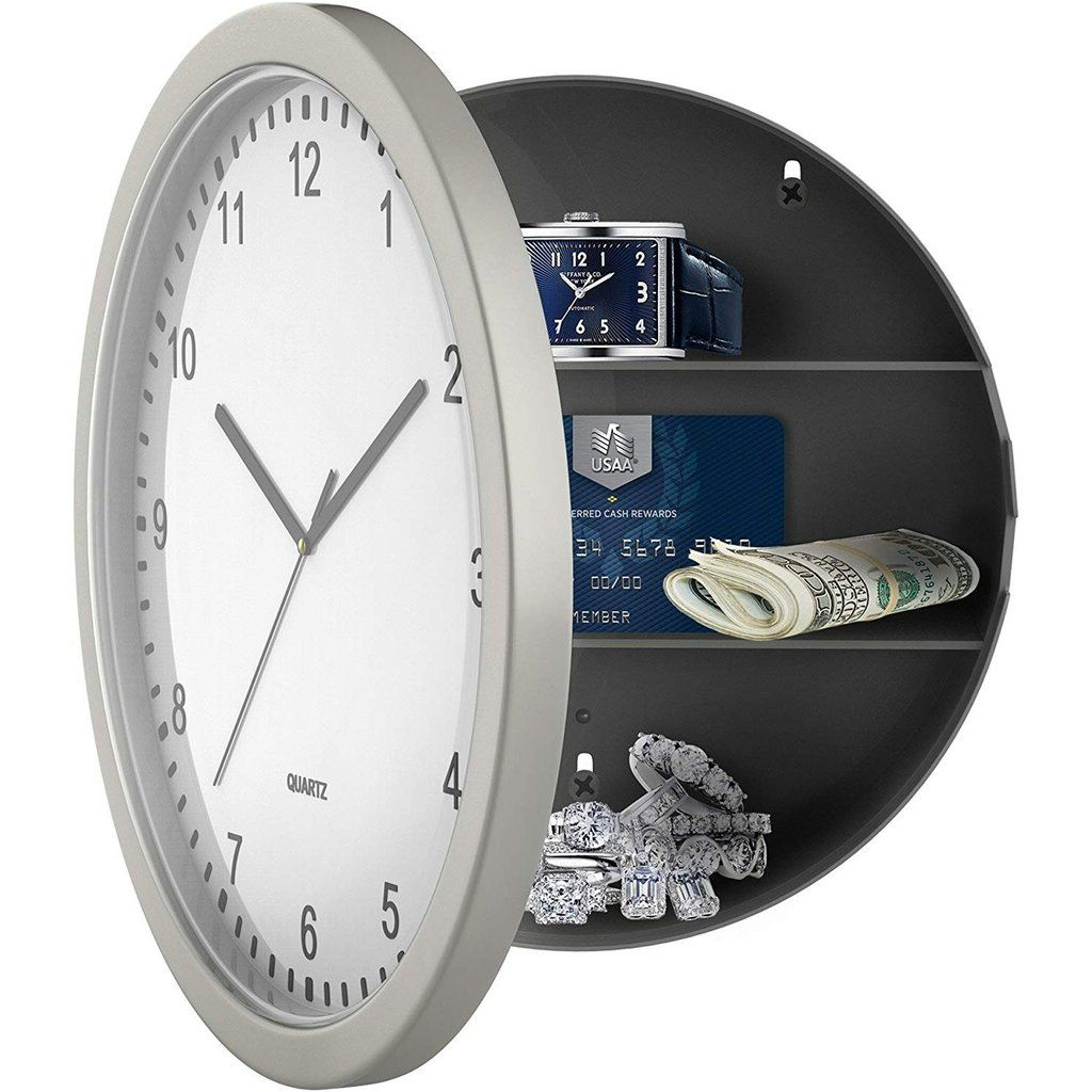 Wall Clock Hidden Safe In 2020 Clock Wall Clock Hidden Safe