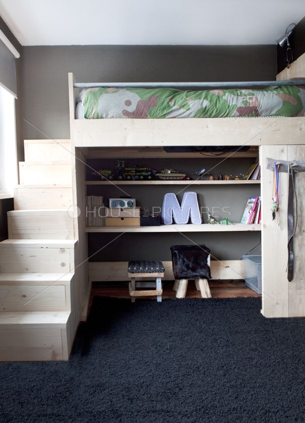 the stairs should be drawers to maximize usefulness  Home deco  Pinterest