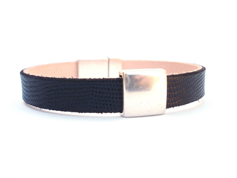 Men leather bracelet gift for him leather cuff leather bracelet