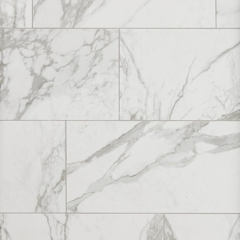 Avenza Bianco Matte Porcelain Tile 12in X 24in 100378199 Floor And