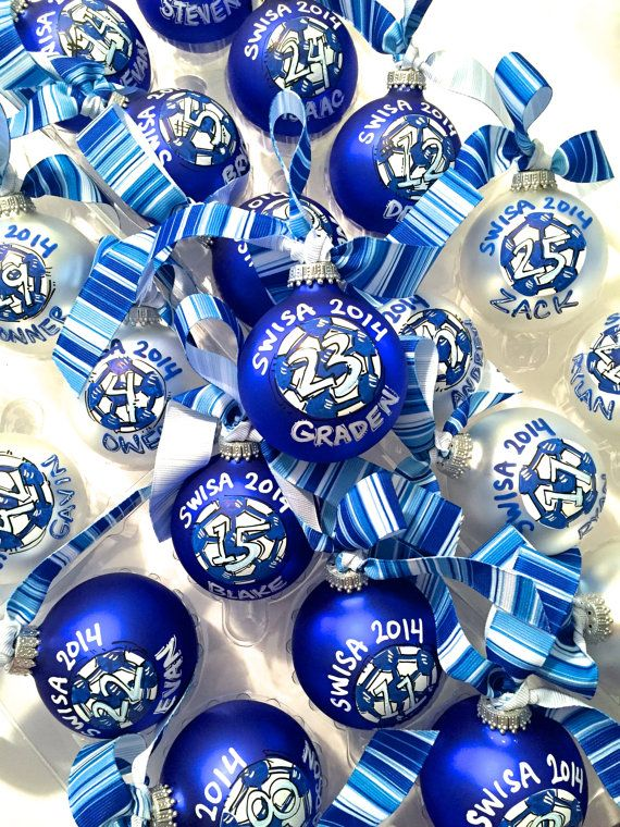 Personalized TEAM Ornaments, 10 or more...MINIMUM of 10