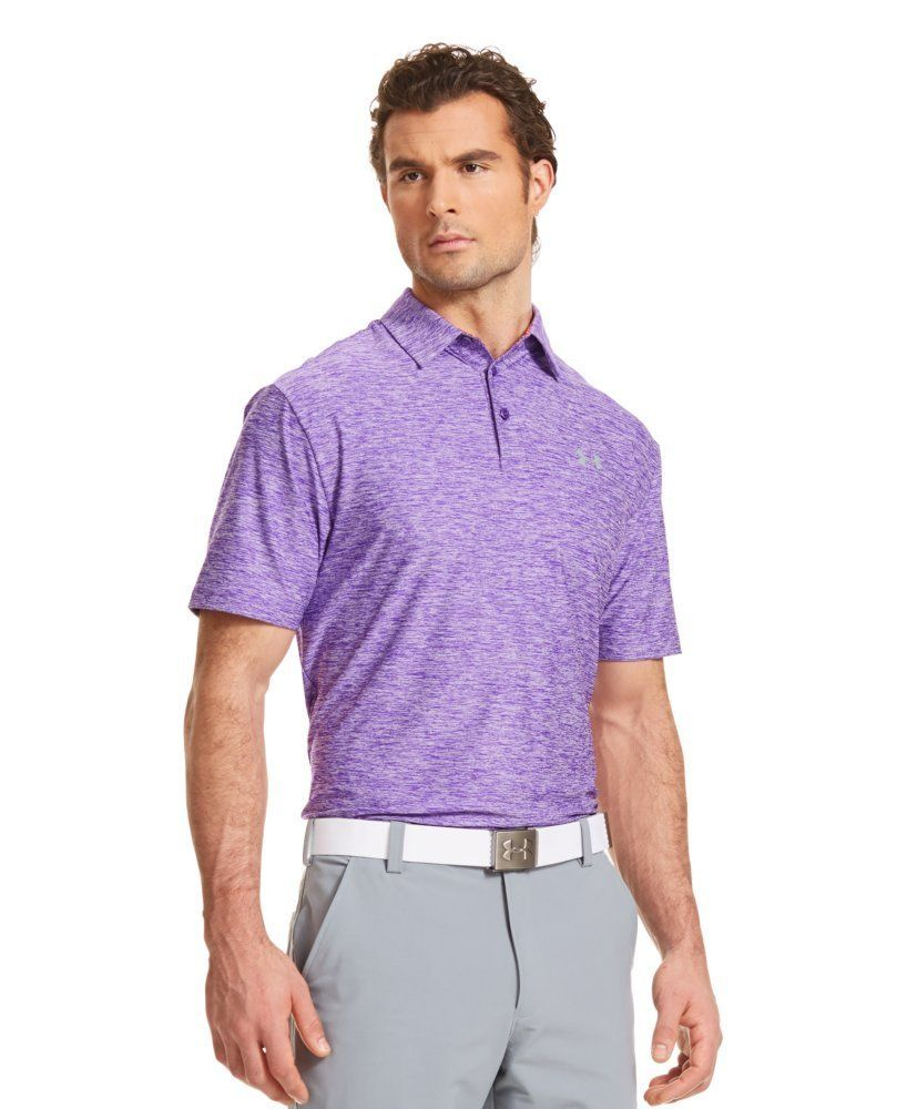 The moisture transport system on this mens elevated for Mens under armour golf shirts