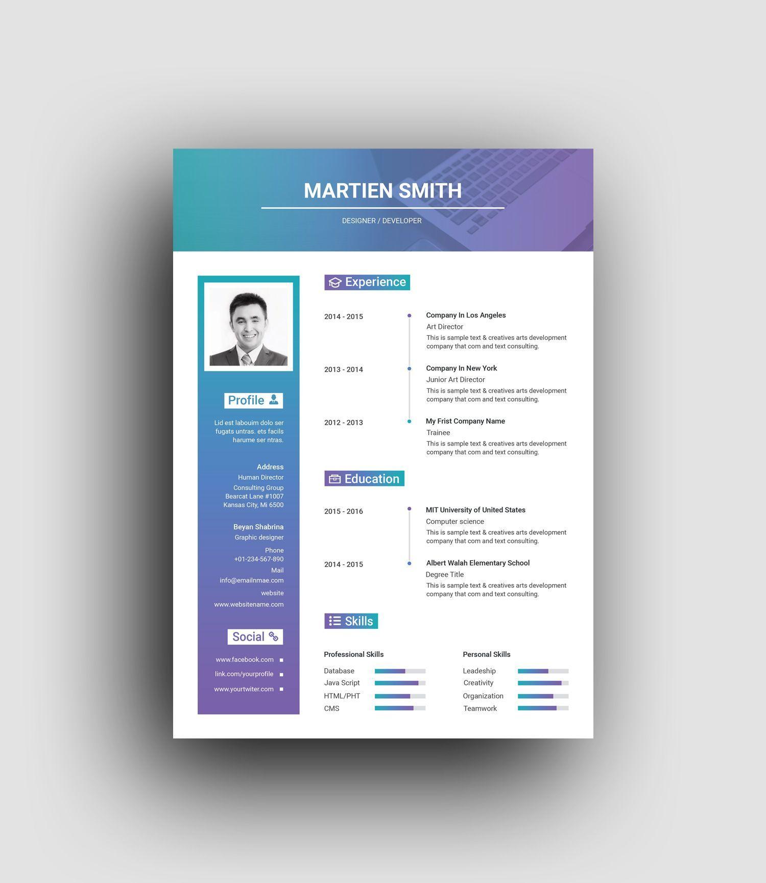 Hades elegant professional resume template 5 resume