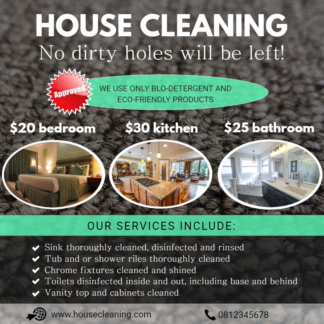 Professional Home Cleaning Ad Template Professional