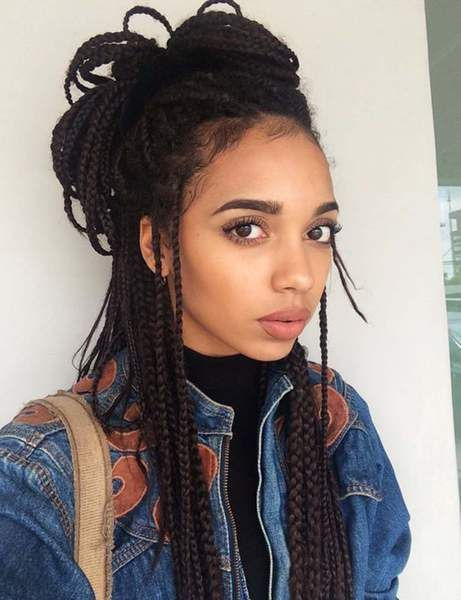 Box Braids Hairstyles Adorable Les Box Braids Floues  Tranças  Box Braids  Pinterest  Box