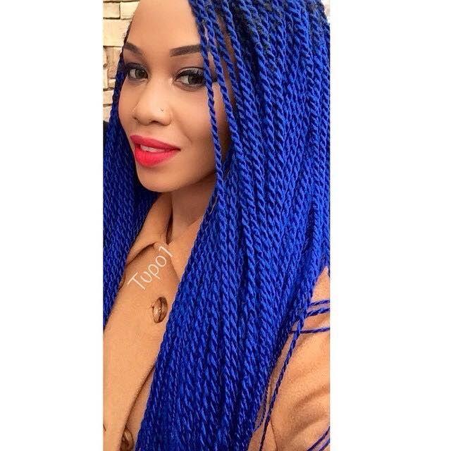 Couleur Cheveux, Tresses Bleue, Coiffures Afro, Dreads, Bleu Saphir, Bleu  De
