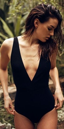 1b5b898fbe1 Oseree plunging V-neck swimsuit #ShopStyle #BeachVacation #Swimsuit ...