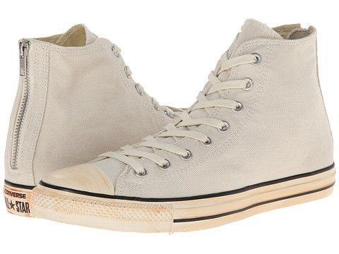 03e85779fb4d Converse Chuck Taylor® All Star® Vintage Washed Twill Back Zip Hi Turtledove  - 6pm.com