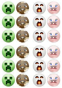 graphic relating to Printable Minecraft Cupcake Toppers identify Absolutely free Printable Minecraft Cupcake Toppers  Brad