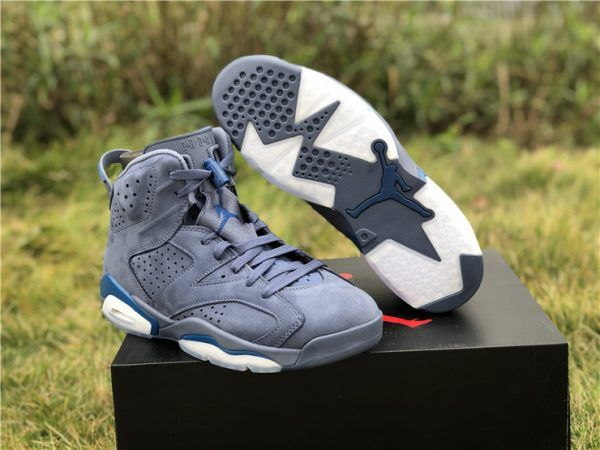 "f6c2be63126c87 2019 Newest Air Jordan 6 ""Jimmy Butler"" Diffused Blue Court Blue in ..."