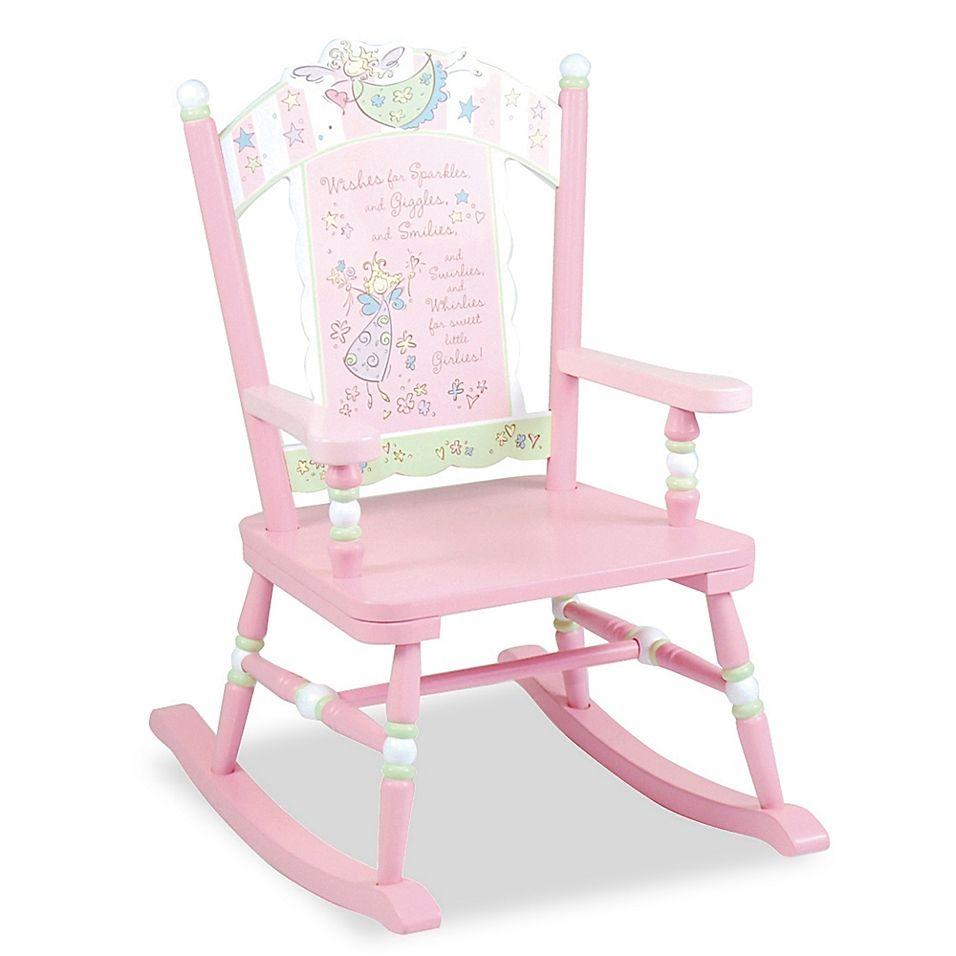 Wildkin Kid S Fairy Wishes Rocking Chair In Pink In 2020 Rocking