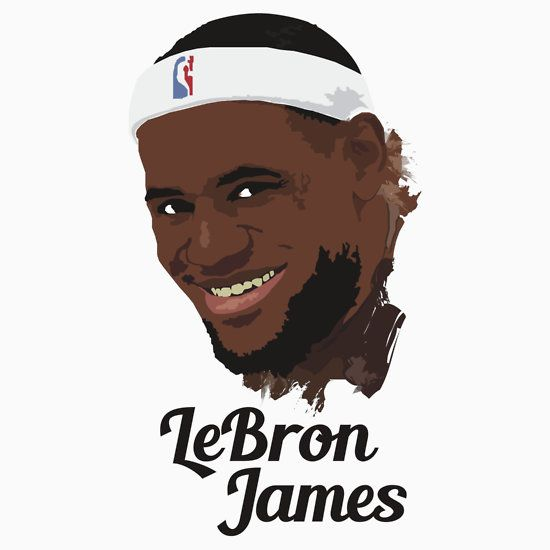 LeBron James T-shirt All star and famous basketball player in vector - fresh nba coloring pages of lebron james