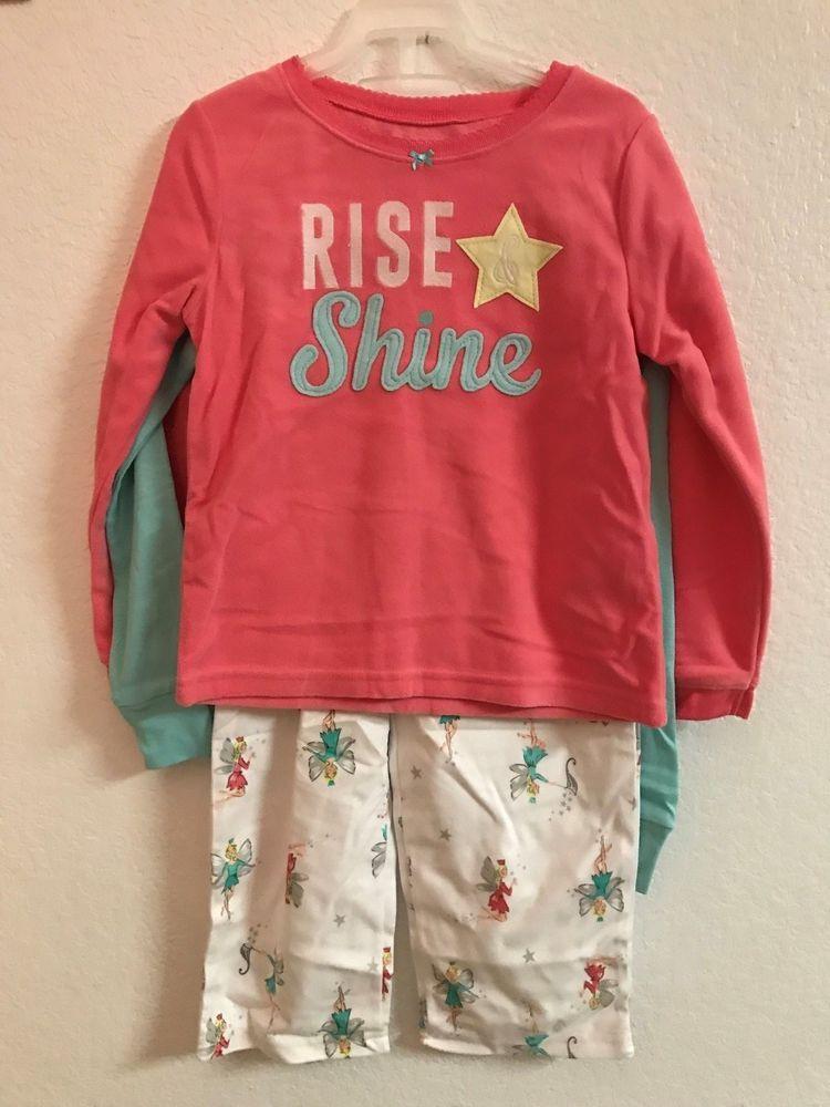 347763c0cfd5 NWT Toddler Girl Carter s 3 piece set Fairy Tee Fleece top   Pants ...