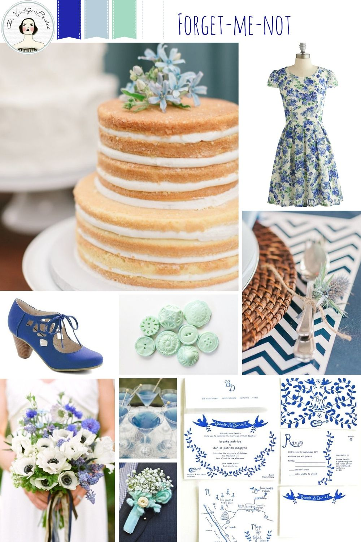 Forgetmenot u spring wedding inspiration in shades of blue
