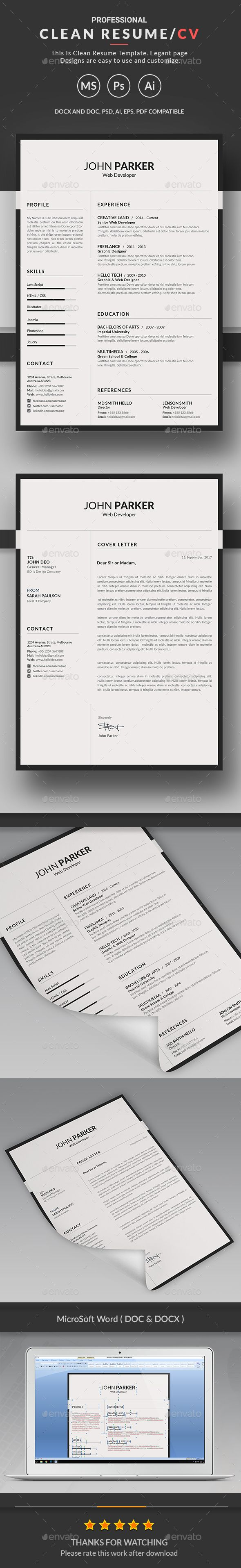 Resume | Stationery design, Cv template and Resume cv