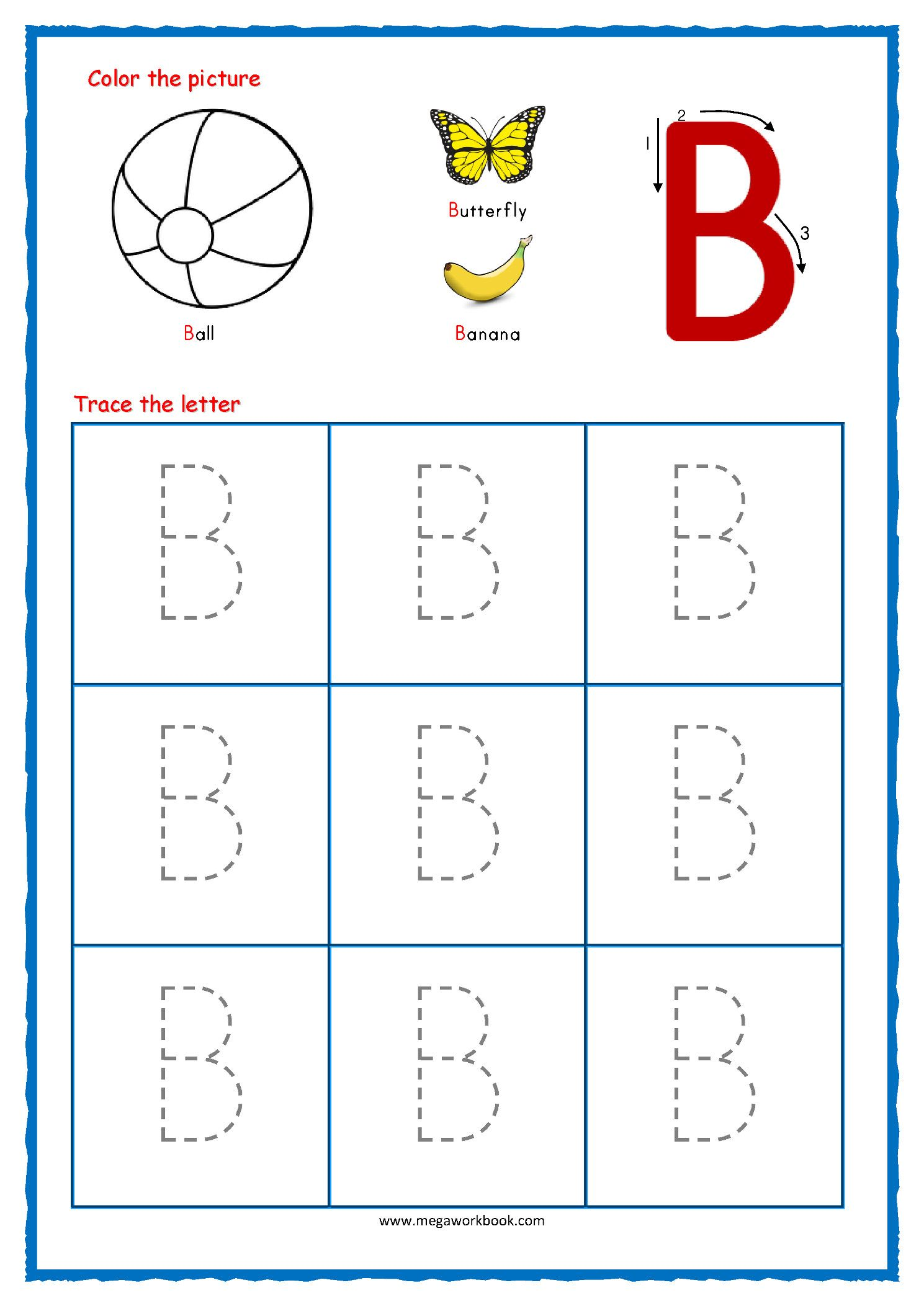 Cursive Writing Worksheets Cursive Alphabet Letter B In