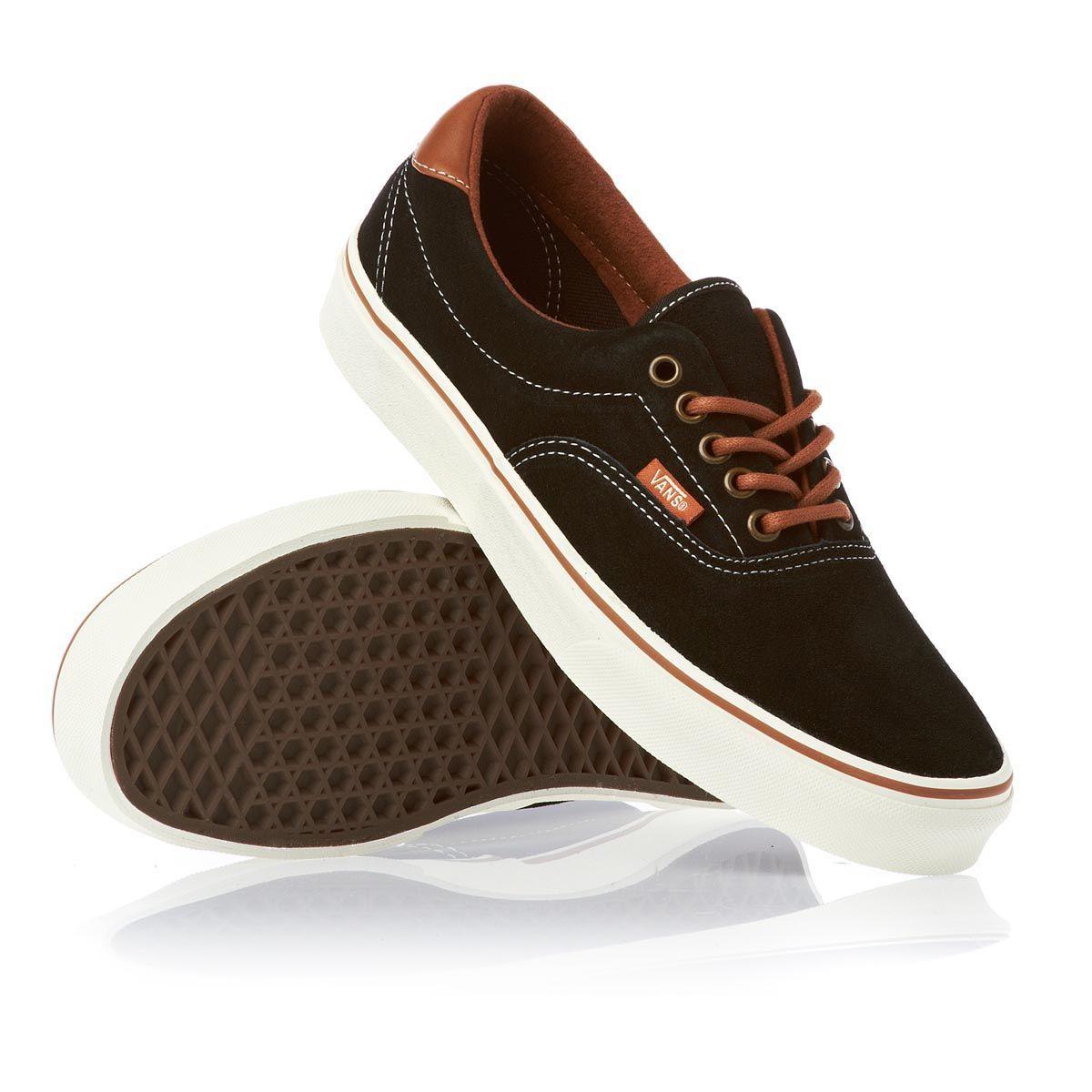 5d44634fc6 Vans Shoes - Vans Era 59 Shoes - Black Leather Brown