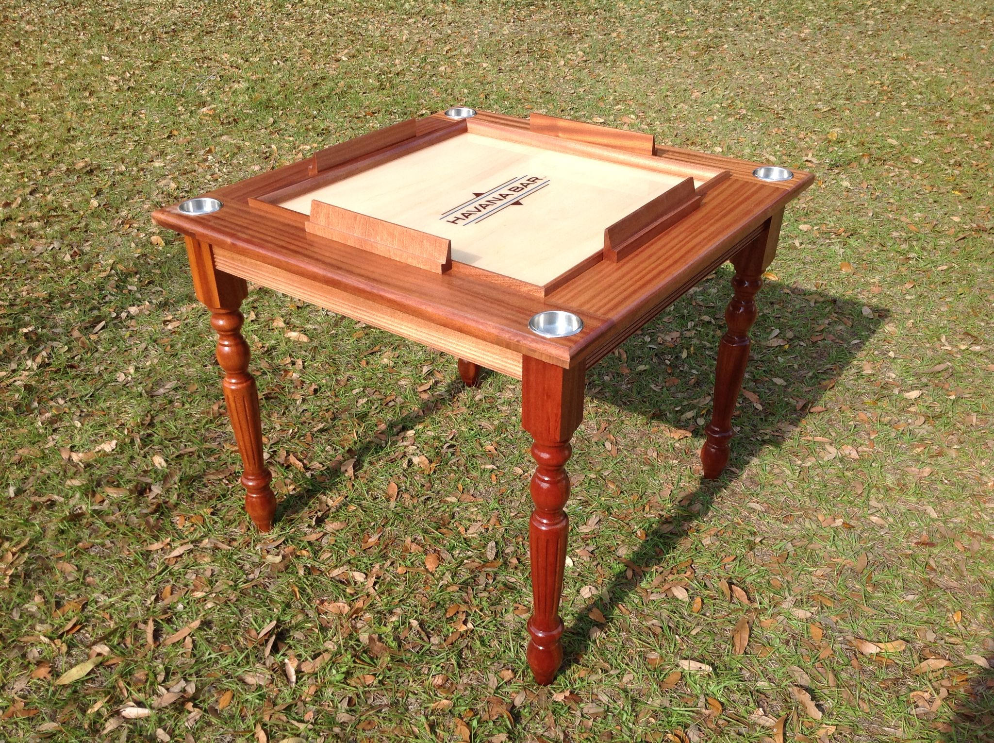 Solid Mahogany Domino Table With Turn Legs And Locked Drawers Domino Table Solid Mahogany Mahogany