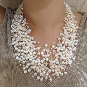 38++ Layered pearl necklace costume jewelry ideas in 2021