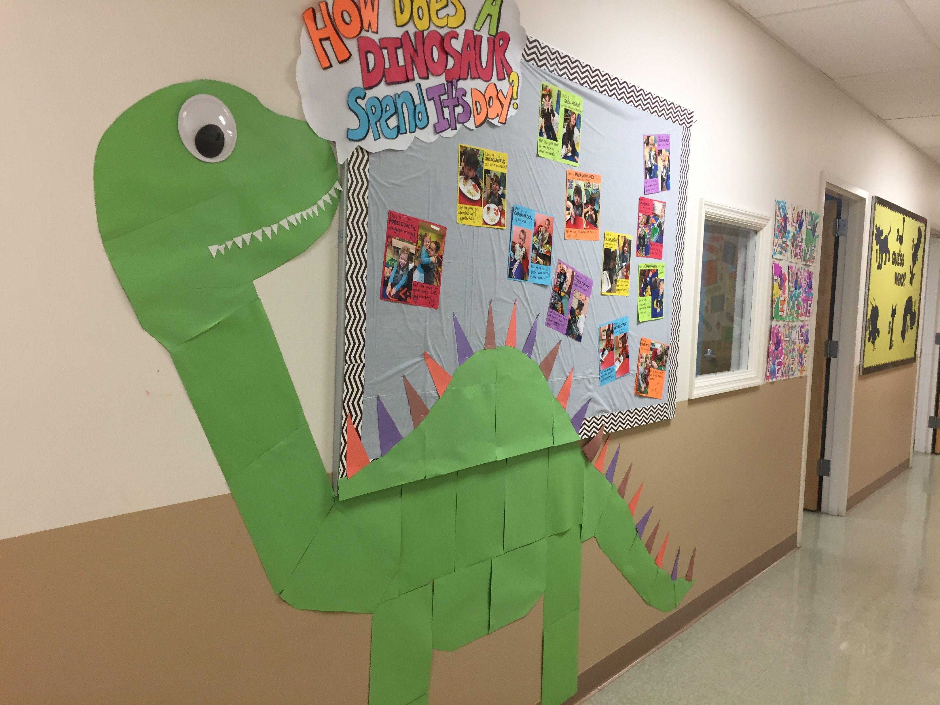 How does a dinosaur bulletin board | My bulletin boards | Pinterest ...