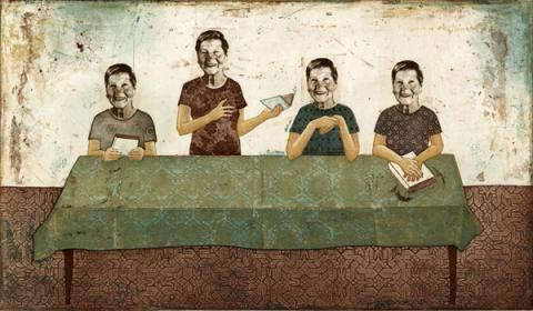 Piia Lehti: Mummin lukupiiri / Grandmothers studycircle, 2012