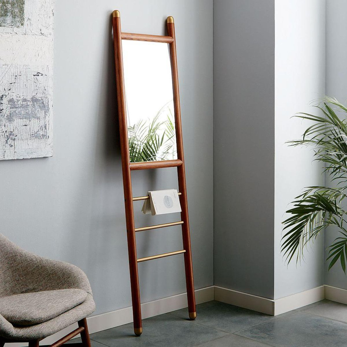 Mid-Century Dowel Mirror - Narrow | west elm UK | Mirror 镜子 ...