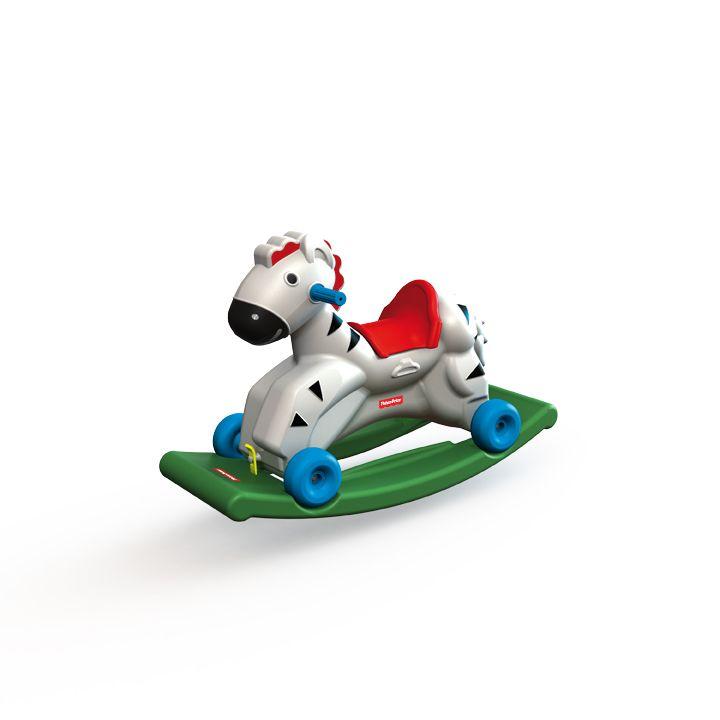 2502.1 - Gangorra Andador Zebrinha Fisher Price | Com 2 atividades no mesmo produto: gangorra e andador. O brinquedo auxilia nos primeiros passos da criança. Fabricado em plástico rígido. | Faixa Etária: +1 ano | Medidas: 32 x 59 x 47,5 cm e 31 x 78,5 x 51 cm | Playground | Xalingo Brinquedos | Crianças