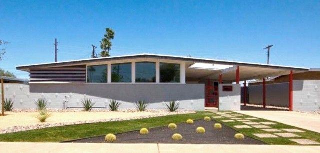 I Toured This Home On Mod Phx Tour Think 2010 Or 11 Wonderful Aluminum Pivot Door At Rear Ralph Haver Mid Century Modern Phoenix Arizona